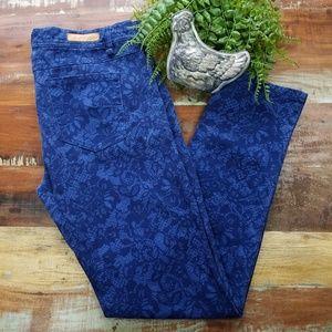 Sanctuary Denim Floral Lace Skinny Jeans
